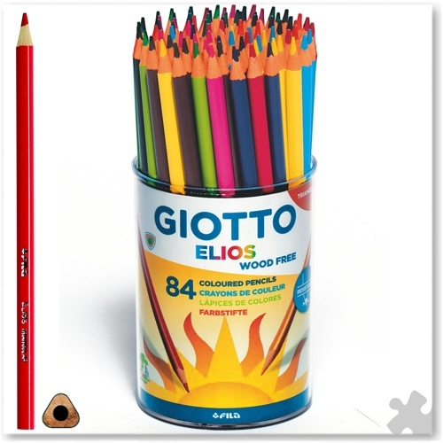 84 Giotto Elios Triangular Wood Free Pencils